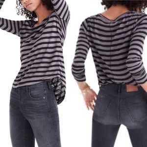 Madewell💕Anthem Stripe Longsleeve Top Blouse XS